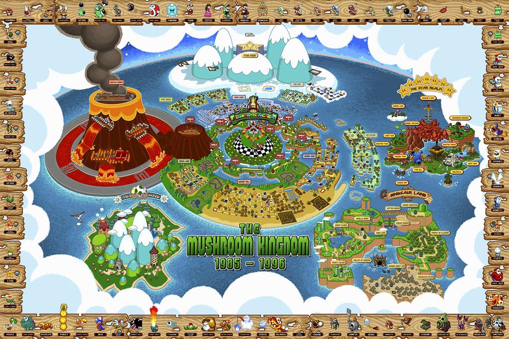 Mario World Map by Chronokhalil on DeviantArt