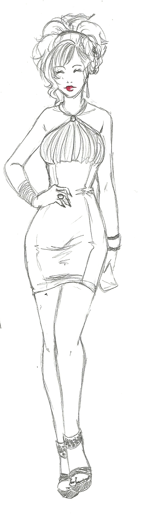 Naty Sketch2 by Paulinda-art