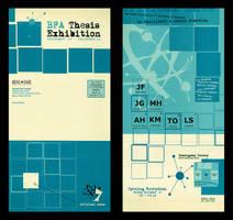 BFA Show Invitations by technochild