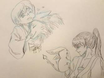 Hayashi and Ruichi  by yaninpoart