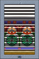 20120623-Egyptian-Glass-On-Corrugated-Aluminum-v14 by quasihedron