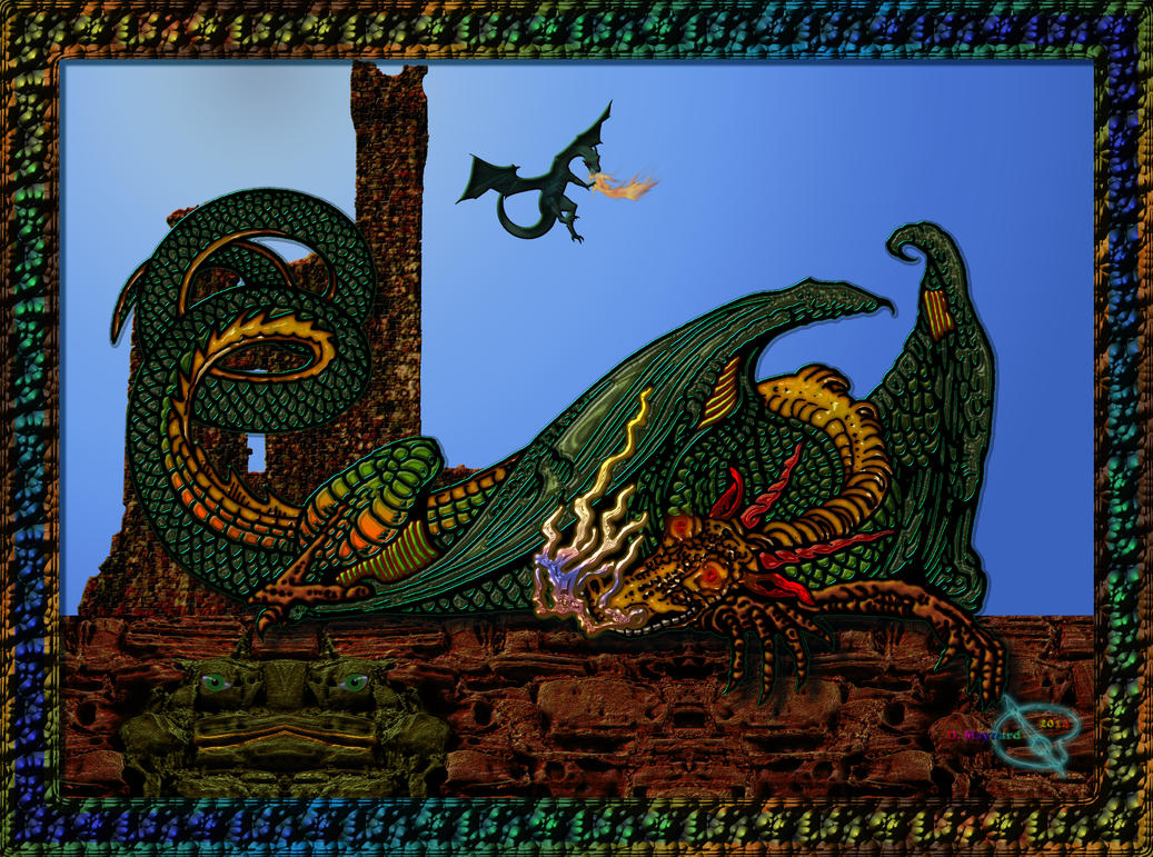 20140827-Dragon-Resting-with-Frog-v31 by quasihedron