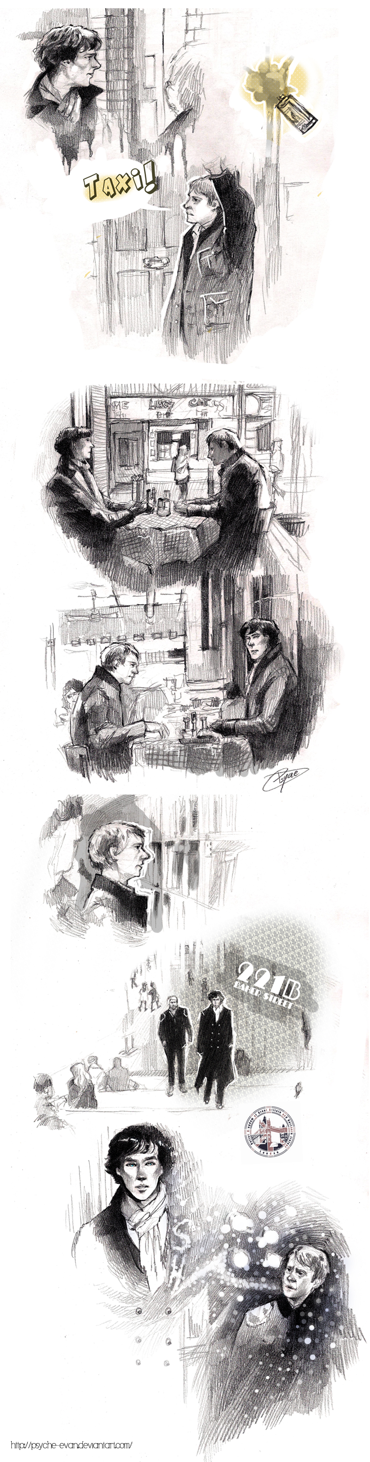Sherlock Sketches by Psyche-Evan