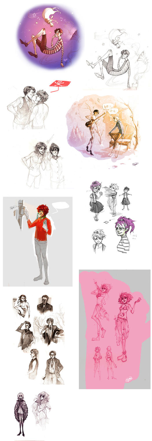 Sketch dump 1 by Psyche-Evan