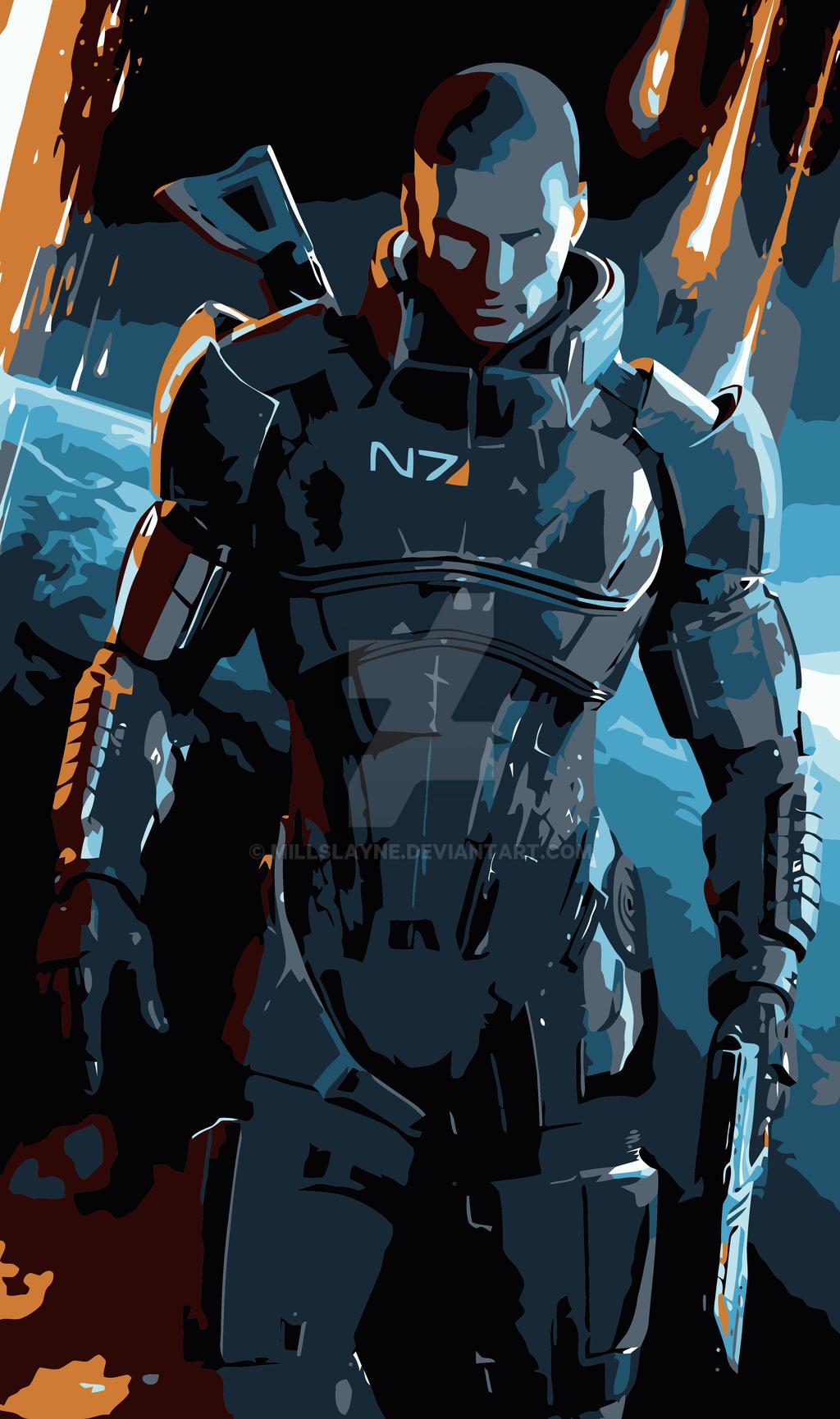 Commander Shepard Mass Effect 3 By Millslayne On Deviantart