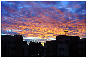 Skyline and Sunset