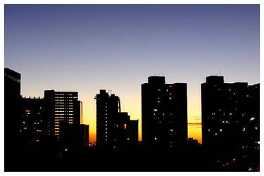 Fortaleza Sunset Skyline by maxholanda