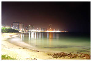 Fortaleza Skyline at Night by maxholanda