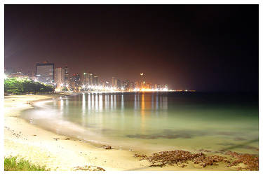Fortaleza Skyline at Night by maxholanda