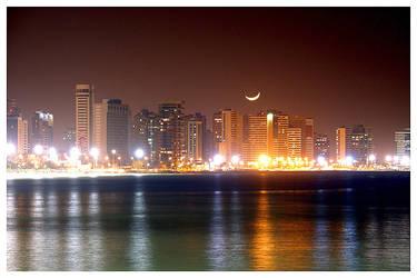 Fortaleza Skyline at Night 2 by maxholanda