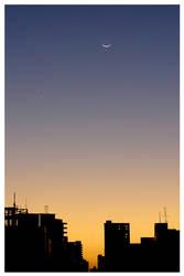 Sunset Moon by maxholanda