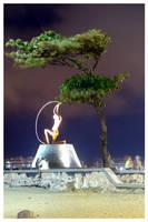 Iracema Statue and Tree by maxholanda