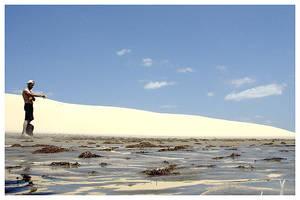 Dunes with wet sand by maxholanda