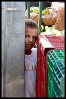 Boy Behind Boxes by maxholanda