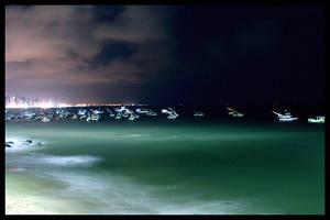 Fortaleza Skyline at Night 3 by maxholanda