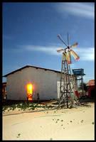 House and Windmill at Nigth by maxholanda