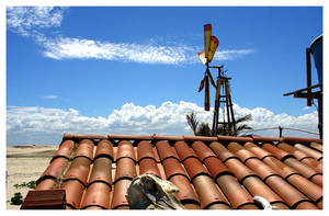 Windmill and Roof by maxholanda