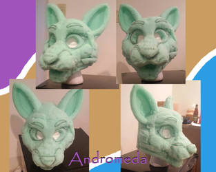 Andromeda Cat Fursuit Head WIP by Lufca