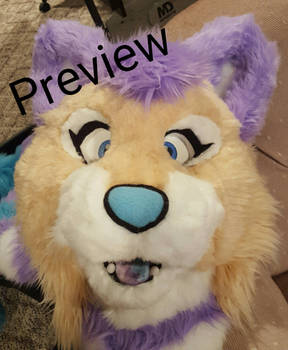 Andromeda Cat Fursuit Head Preview