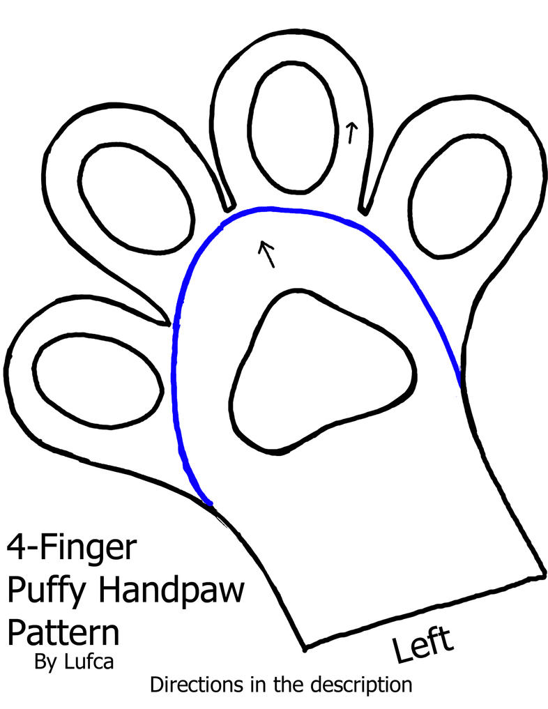 Free 4 Finger Puffy Toony Handpaw Pattern 632106126 on 5 Feet 3 Inches