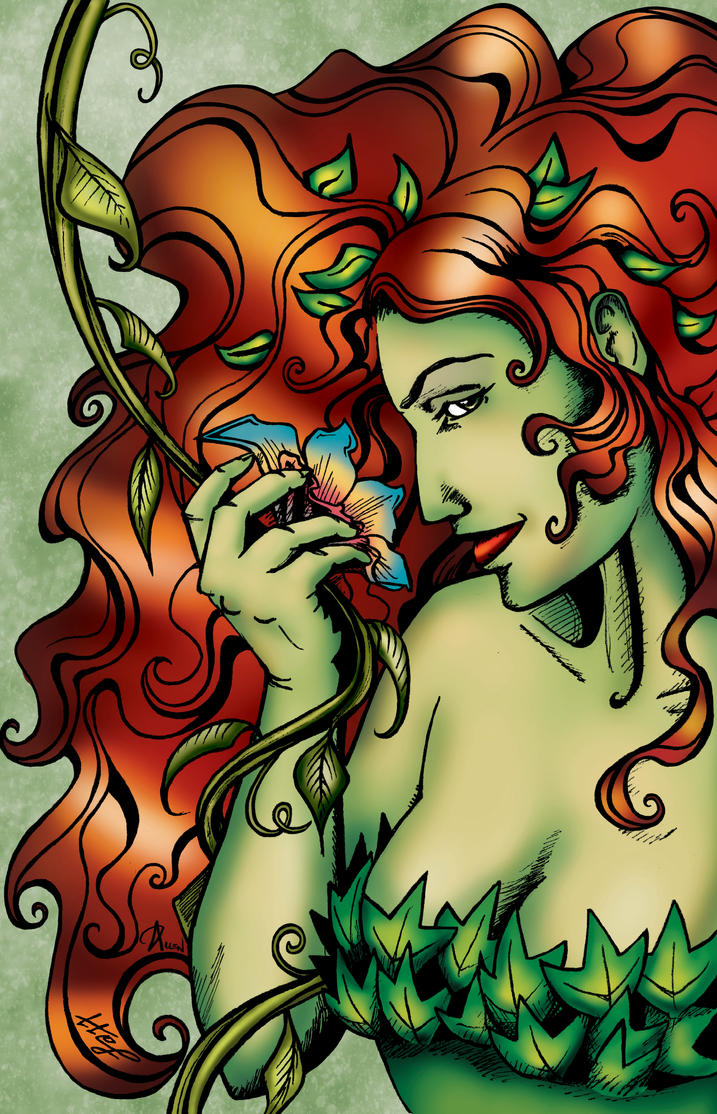 Poison Ivy pinup by crimson-faerie