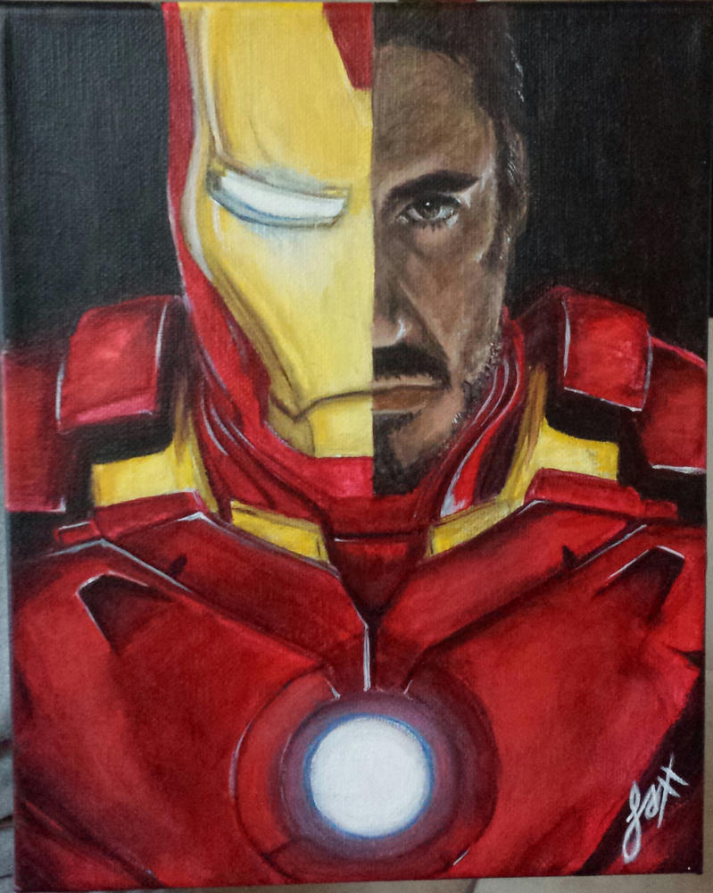 Iron Man Painting by crimson-faerie