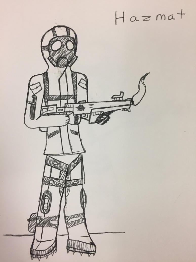 Hazmat soldier by Sk8man202