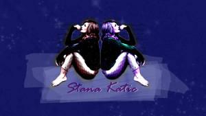 Stana Katic Wallpaper: Blue