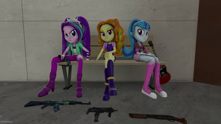 The Dazzlings of the 3rd Street by maxlefou