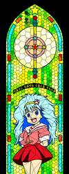 Majokko Stained Glass - Pelsia Hayami by maxlefou