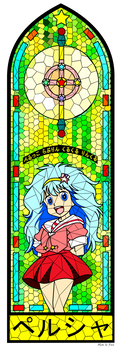 Majokko Stained Glass - Pelsia Hayami