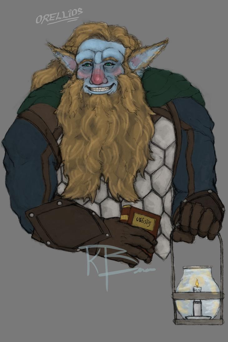 Orellios, Firbolg Cleric of Eldath, Sage of Deneir by Archaes8