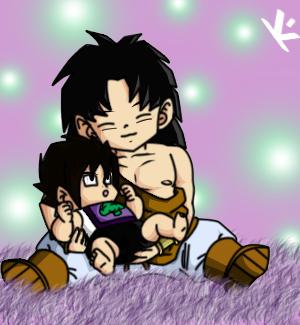 Baby Eruke+Kid Brolly by DHackWings