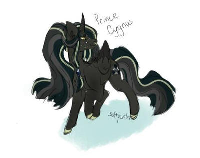 Prince Cygnus (MLP OC) by softperch