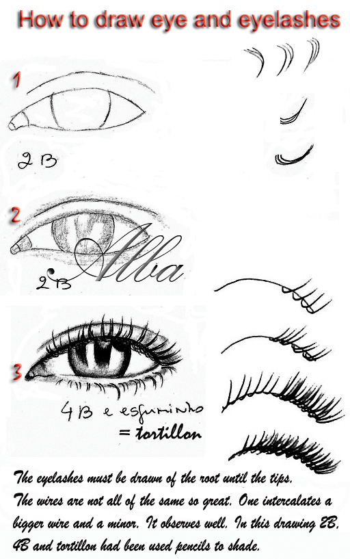 Tutorial eye and eyelashes by lamorghana on deviantart for Things to practice drawing
