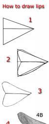 Tutorial draw lips 2 by lamorghana