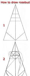 Tutorial draw rosebud by lamorghana