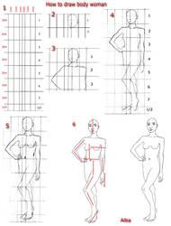 Tutorial draw body  woman by lamorghana