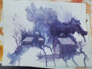 Watercolor Landscape2-ish by Baykeef