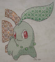 +BLACKWORK+ Chikorita San by gatchacaz