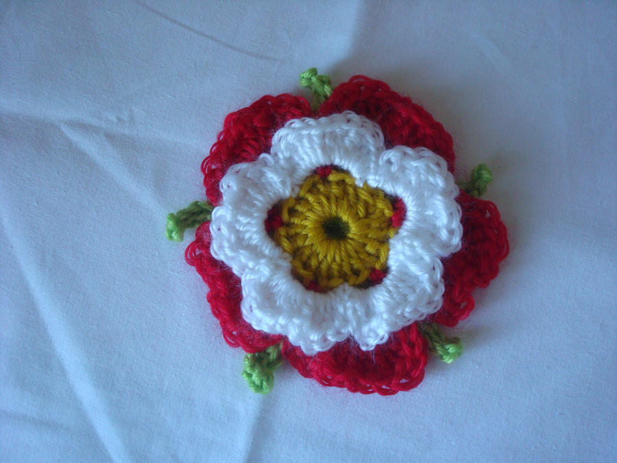 Crochet Tudor Rose by gatchacaz