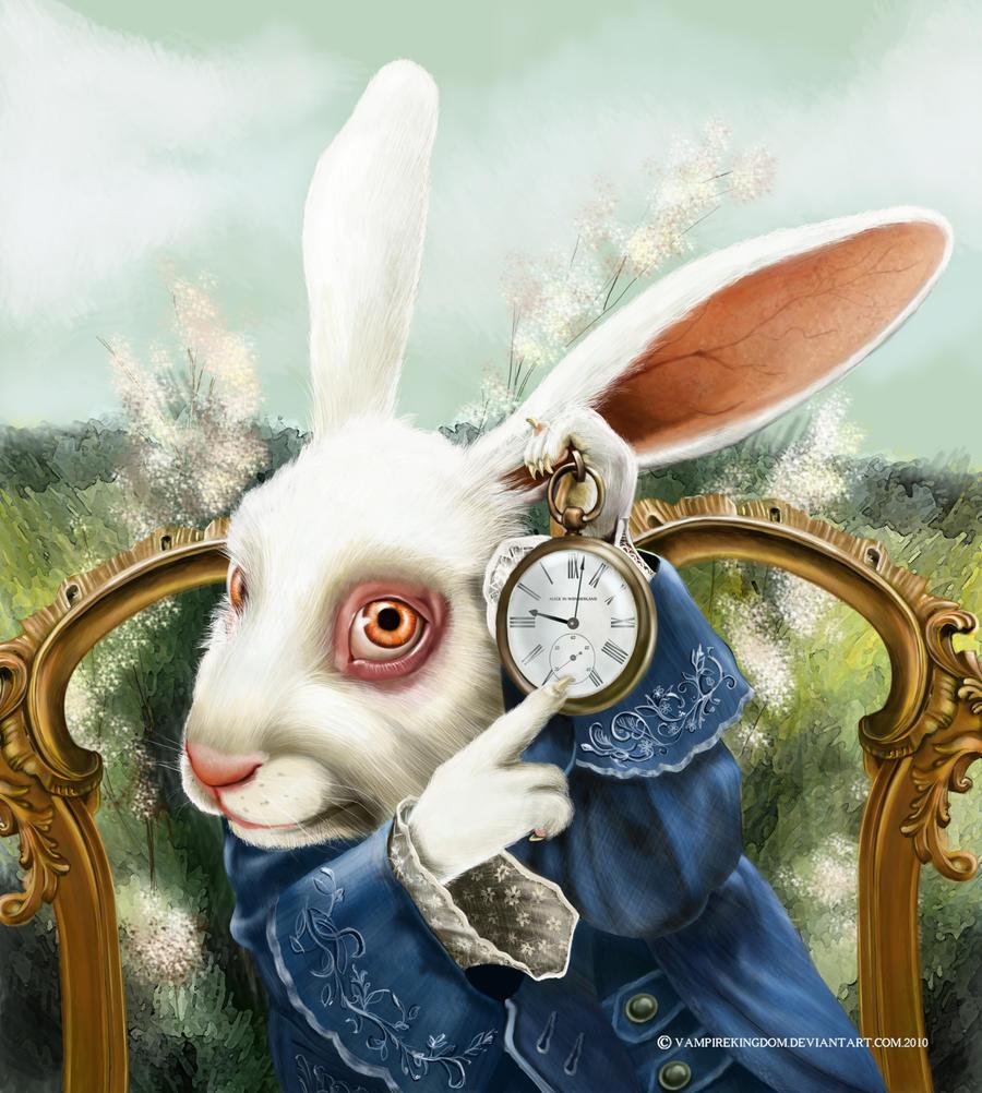 White rabbit painting - photo#4