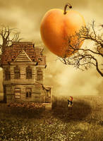 The Giant Peach by vampirekingdom