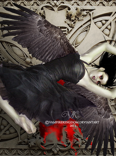 Darkness Angel by vampirekingdom