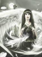 Sad Angel by vampirekingdom