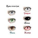 Eyes - Exercice by vampirekingdom