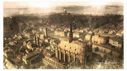 Notre Dame Watercolour 5 by vampirekingdom