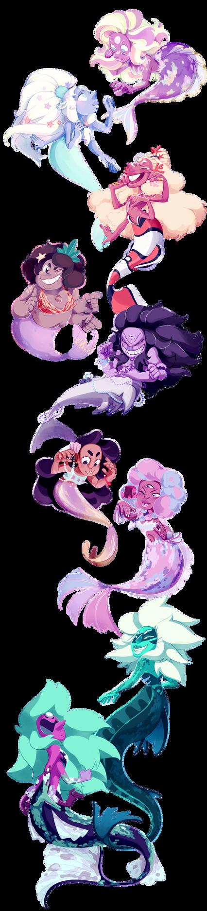It's the Fusion Mermaid brigade! by weirdlyprecious
