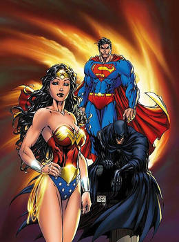 Superman + Batman + Wonder Woman = The Trinity.