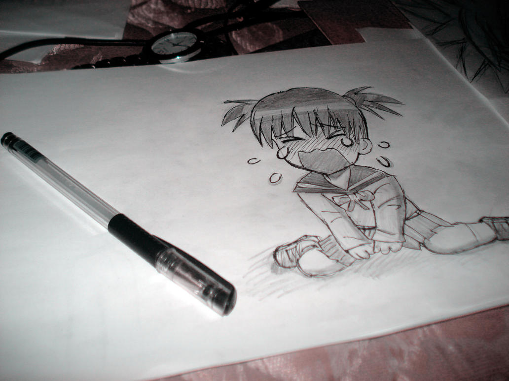 Draw anime girl chibi crying by dhykandhykaa on deviantart for How to draw a body tumblr